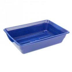 Лоток глубокий с сеткой 36*26*9 см, синий