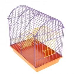 Клетка для грызунов 2 этажная с метал. полками и лесенками (полукруглая)