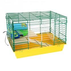 Клетка для кроликов 2-этажная (лежанка+держатель для сена) 60*40*41