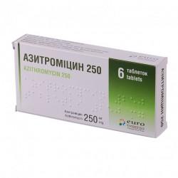 Азитромицин 250 мг 6 таб.