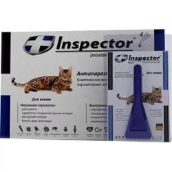 Инспектор капли от внешних и внутренних паразитов для кошек до 4 кг