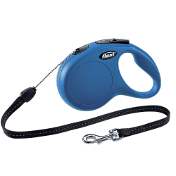 Рулетка Flexi New Classic (S) 8 м, 12кг, трос; синий