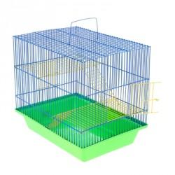 """Клетка для грызунов """"Гризли 3"""" с металлическими полками и лесенками, 41*30*38 см"""
