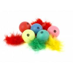 Мячик с пером для кошек