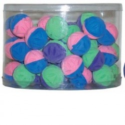 """Игрушка -  """"мяч цветочный двухцветная"""" плас."""