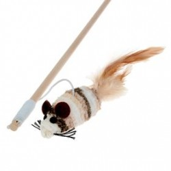 """Дразнилка """"Мышь"""" на деревянной ручке, 36см."""