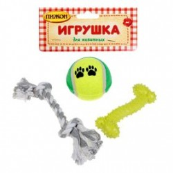 Набор игрушек для собак, 3шт.