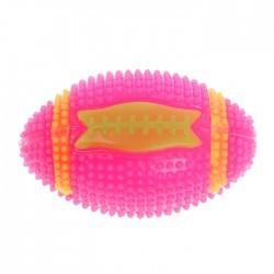 """Мяч для собак светящийся с пищалкой """"Регби"""" 7 см"""