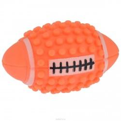 """Игрушка для собак с пищалкой """"Регби"""" с шипами, 12 см"""