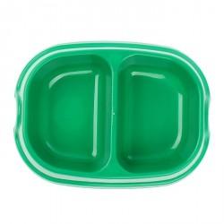 Миска 2х200 мл., зеленая
