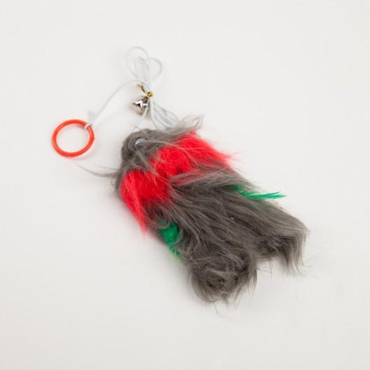 Купить Мышь  мех на шнурке 10см