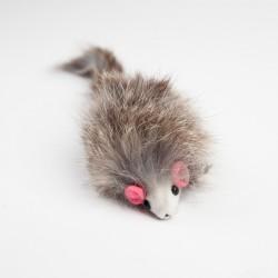 Мышь серая кор.натур.мех 8см