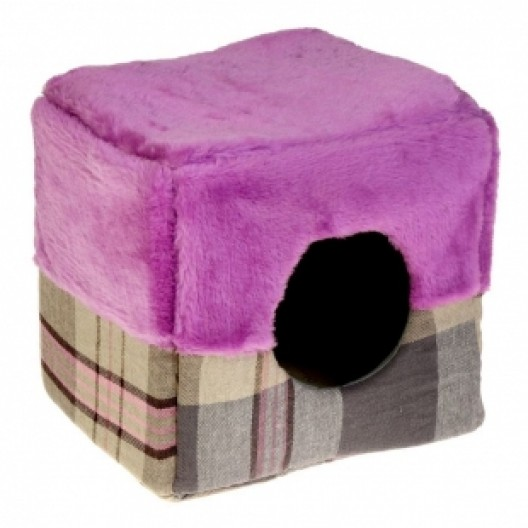 Купить Дом-куб Happy Friends Геометрия, 33х33х33см., лен/искус. мех