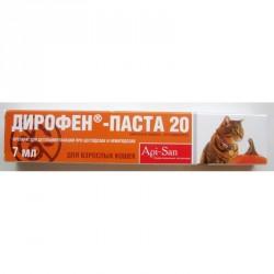 Дирофен паста для вывода глистов д/кошек 1мл*1кг (7мл.)