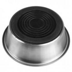 Миска металлическая стандартная с нескользящим силиконовым основанием, 900мл.