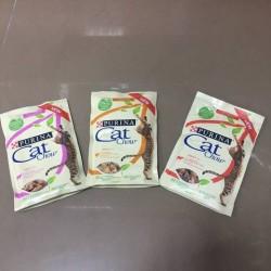 Кэт Чау консервированный для кошек (лосось,зеленый горошек) 85гр.