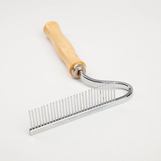 Купить Расческа деревянная ручка грабли изогнутые