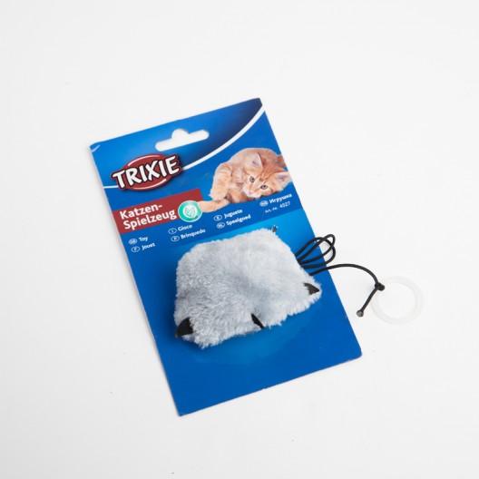 """Купить Игрушка Трикси """"Лапка""""  на резинке плюшевая с мятой, 7/55 см."""