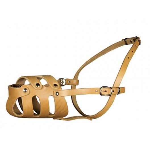 Купить Намордник кожаный цельнокроенный для добермана
