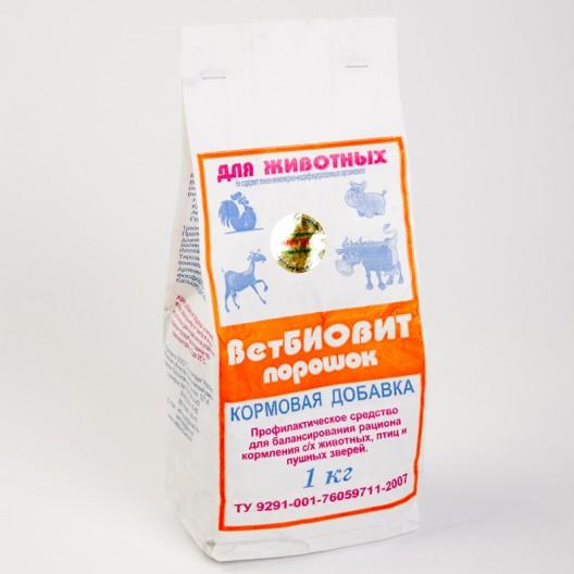 Купить Ветбиовит 1кг,  комплексная белково-витаминно-минеральная кормовая добавка для с/х животных, птицы