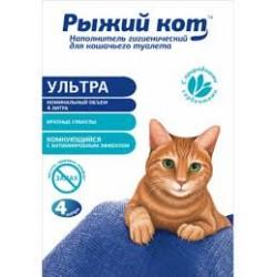 """Наполнитель антибактериальный 4л """"Рыжий кот"""""""