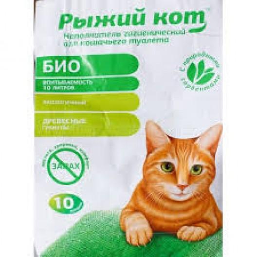 """Купить Наполнитель древесный 10л """"Рыжий кот"""""""