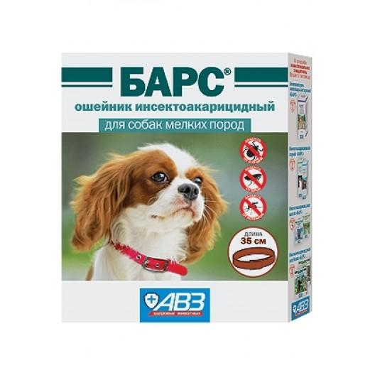 Купить Барс ошейник инсектоакарицидный для собак мелких пород 35 см