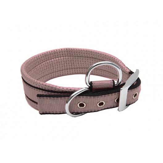 Купить Ошейник нейлон усиленный с мягкой подкладкой 30мм*47/55см, розовый