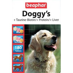 Комплекс витаминов для собак, BEAPHAR Doggy's, 180табл.