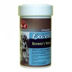 Бреверс  8х1 витамины для собак с пивными дрожжами и чесноком, банка 150 таб.