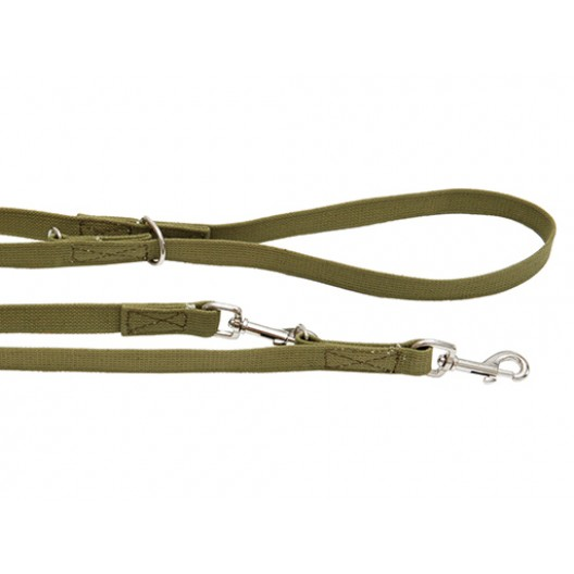 Купить Поводок брезентовый переменной длины ширина 20 мм, длина 1,2 - 2 м.