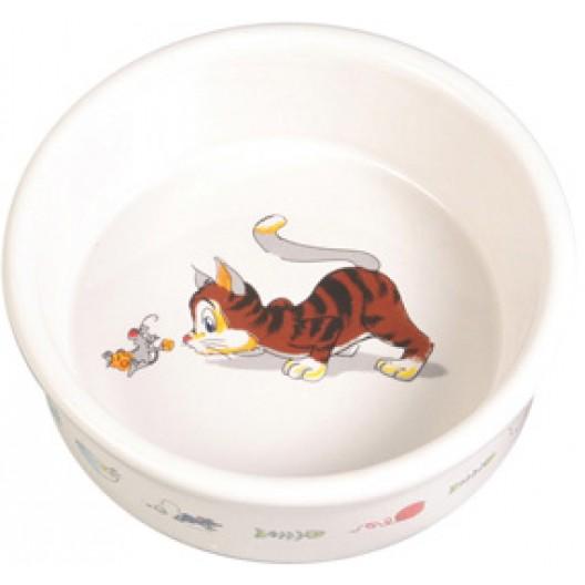 Купить Миска керамическая для кошек 200 мл