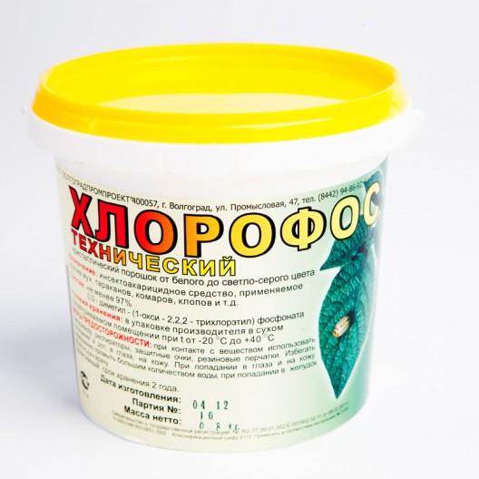 Купить Хлорофос тех.97 по 0,8 кг.