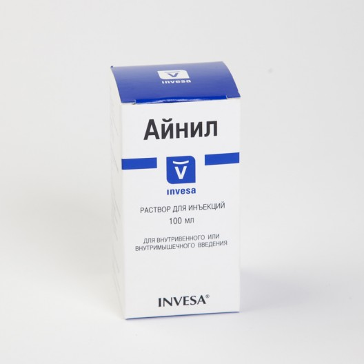 Купить Айнил 10% р-р для инъекций 100 мл.