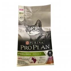 Проплан  400 гр,сухой корм для стерилизованных кошек,утка + печень