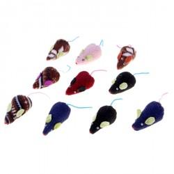Мышь- игрушка для кошек 8см, цветная