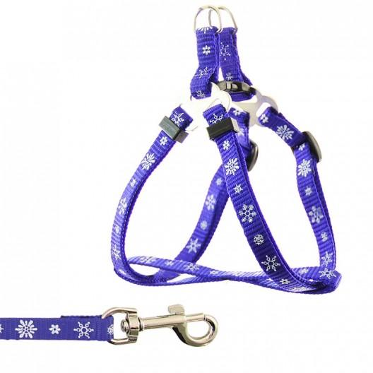 Купить 3105771 комплект шлейка+поводок черно-синий