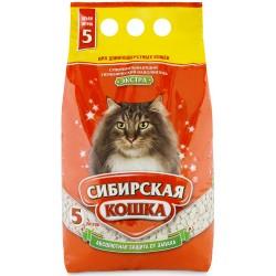Сибирская кошка наполнитель экстра 5л для длинношерстных кошек(впитывающий),5л