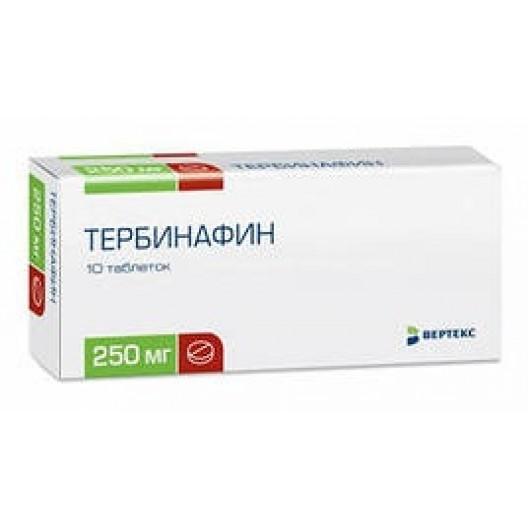 Купить Тербинафин 250 мг №10 таб.