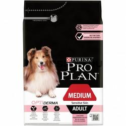 Проплан 1,5кг сухой корм для средних пород взрослых собак с чувс. кожей (лосось)