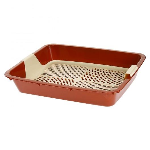 Купить Туалет для кошек с решеткой глубокий 42,5*31*8см
