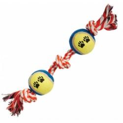 Игрушка Веревка 3 узла и 2 мяча