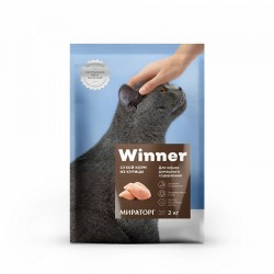 Winner,полнорационный сухой корм для стерилизованных кошек,с лососем,0,4кг (Мираторг)