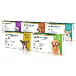 Zoetis Симпарика,жевательные таблетки для собак весом от 20-40кг,80мг,3таб.
