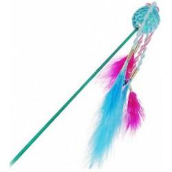 1290567 дразнилка с цветными шариком и перьями