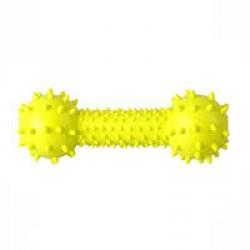 Гантель с шипами 14.5 см, желтая