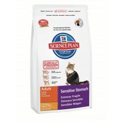 Hills Feline Adult SensStomach Chicken with Egg & Rice для кошек с чувствительным желудком 400 г.