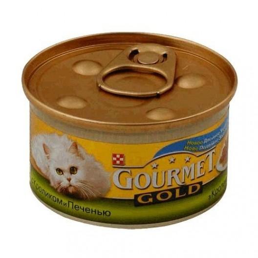 Купить Корм для кош Gourmet с кроликом и печенью