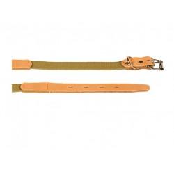 Ошейник брезентовый с кожей 20 мм, 31-39 см