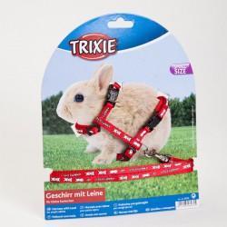 Шлейка с поводком для крольчат